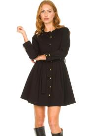 Silvian Heach |  Button-up dress Chimpansee | black  | Picture 2