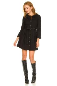 Silvian Heach |  Button-up dress Chimpansee | black  | Picture 3