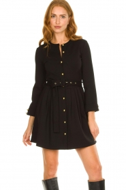 Silvian Heach |  Button-up dress Chimpansee | black  | Picture 5