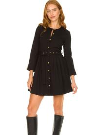 Silvian Heach |  Button-up dress Chimpansee | black  | Picture 6