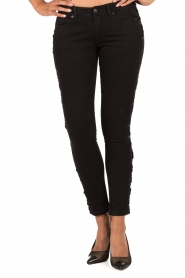 IKKS | Cropped jeans Pradelle | zwart  | Afbeelding 2