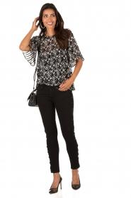 IKKS | Cropped jeans Pradelle | zwart  | Afbeelding 3