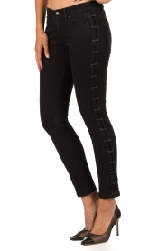 IKKS | Cropped jeans Pradelle | zwart  | Afbeelding 4