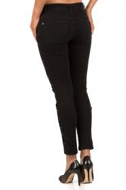 IKKS | Cropped jeans Pradelle | zwart  | Afbeelding 5