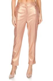 Patrizia Pepe | Pantalon Golden Blush | oudroze  | Afbeelding 3