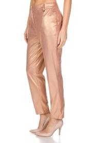 Patrizia Pepe | Pantalon Golden Blush | oudroze  | Afbeelding 4