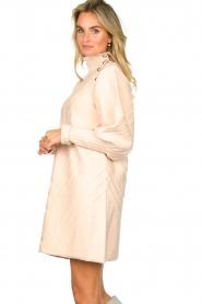 Silvian Heach |  Knitted balloon sleeve dress Maverix | nude  | Picture 5