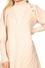 Silvian Heach |  Knitted balloon sleeve dress Maverix | nude  | Picture 7