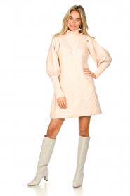Silvian Heach |  Knitted balloon sleeve dress Maverix | nude  | Picture 3