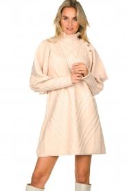 Silvian Heach |  Knitted balloon sleeve dress Maverix | nude  | Picture 4