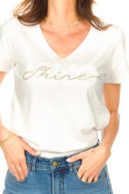 Liu Jo Sport |  Cotton T-shirt with logo Shine | white  | Picture 6