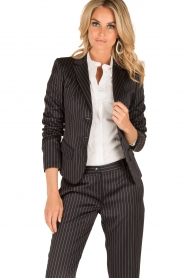 Patrizia Pepe |  Blazer with stripes Uma | dark blue  | Picture 2
