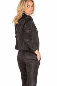 Patrizia Pepe |  Blazer with stripes Uma | dark blue  | Picture 5