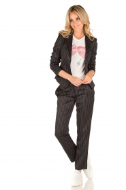 Patrizia Pepe |  Blazer with stripes Uma | dark blue  | Picture 6