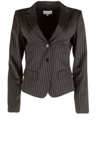 Patrizia Pepe |  Blazer with stripes Uma | dark blue  | Picture 1