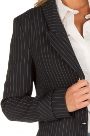 Patrizia Pepe |  Blazer with stripes Uma | dark blue  | Picture 7