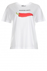 Set |  Printed T-shirt Pepper | white  | Picture 1