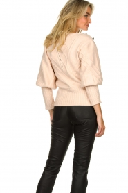 Silvian Heach |  Cable knit with puff sleeves Hortense | nude  | Picture 6