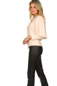 Silvian Heach |  Cable knit with puff sleeves Hortense | nude  | Picture 4