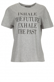 Set |  T-shirt with text print Brett | grey  | Picture 1