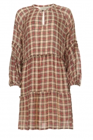 Munthe |  Checked dress Juhu | red  | Picture 1
