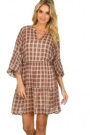 Munthe |  Checked dress Juhu | red  | Picture 4