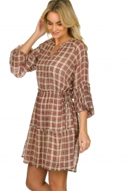 Munthe |  Checked dress Juhu | red  | Picture 5