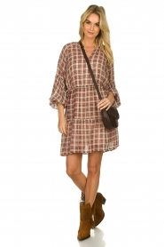 Munthe |  Checked dress Juhu | red  | Picture 3