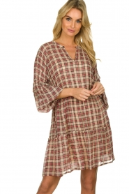 Munthe |  Checked dress Juhu | red  | Picture 2