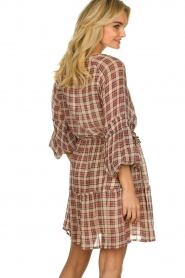 Munthe |  Checked dress Juhu | red  | Picture 6
