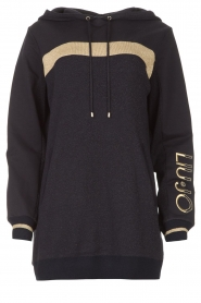 Liu Jo Sport |  Tunic sweater with glitters Jade | blue  | Picture 1