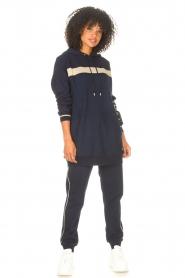 Liu Jo Sport |  Tunic sweater with glitters Jade | blue  | Picture 3