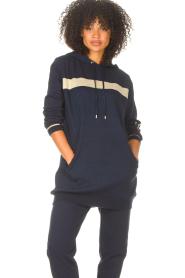 Liu Jo Sport |  Tunic sweater with glitters Jade | blue  | Picture 5