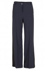 Patrizia Pepe | Flared pantalon Nina | donkerblauw  | Afbeelding 1