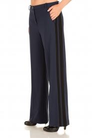Patrizia Pepe | Flared pantalon Nina | donkerblauw  | Afbeelding 2