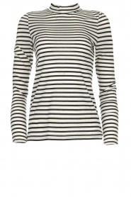 Set |  Striped top Claire | black & white  | Picture 1
