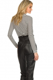Set |  Striped top Claire | black & white  | Picture 5