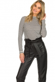 Set |  Striped top Claire | black & white  | Picture 2