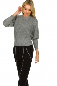 Munthe |  Sweater with balloon sleeves Jab | grey  | Picture 4