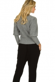 Munthe |  Sweater with balloon sleeves Jab | grey  | Picture 6