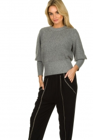 Munthe |  Sweater with balloon sleeves Jab | grey  | Picture 5