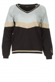 Liu Jo Sport |  Glitter sweater Aperra | black  | Picture 1