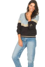 Liu Jo Sport |  Glitter sweater Aperra | black  | Picture 4
