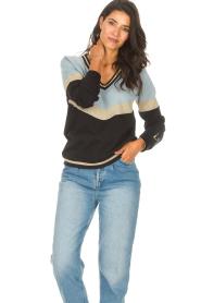 Liu Jo Sport |  Glitter sweater Aperra | black  | Picture 2