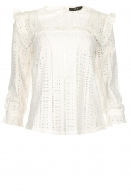 Set |  Top with embroideries and cut-out details Terry | white  | Picture 1
