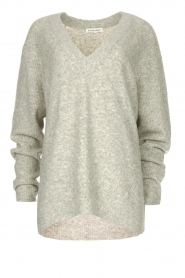 Silvian Heach |  V-neck sweater Marzo | grey  | Picture 1