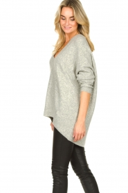 Silvian Heach |  V-neck sweater Marzo | grey  | Picture 5