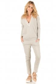 Juvia | Sweater Kim | grijs  | Afbeelding 3