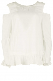 Patrizia Pepe | Off-shoulder top Marie | wit  | Afbeelding 1