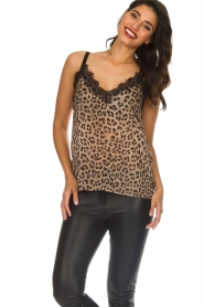 Set |  Sleeveless leopard printed top Channah | brown  | Picture 4